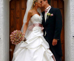 kiss, wedding, and cute image