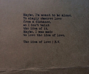 alone, observe, and love image