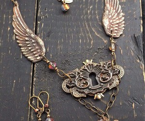 key, necklace, and victorian image
