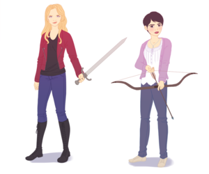 fanart, once upon a time, and mary margaret image