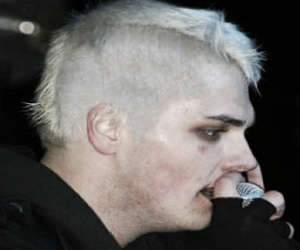 gerard way, my chemical romance, and white hair image