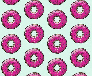 donuts, wp, and pink image