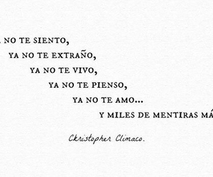 love, mentiras, and frases image