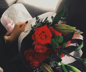 beauty, love, and bouquet image