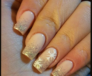 nails, christmas, and beauty image