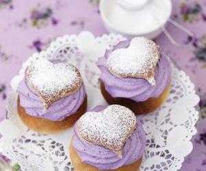 cupcake, sweet, and purple image