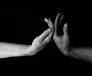 hands, couple, and photography image
