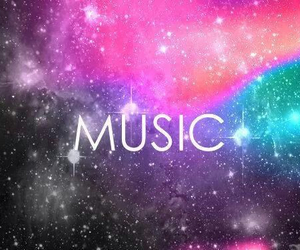 music, love, and galaxy image