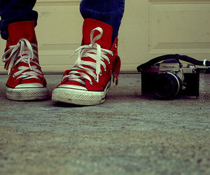 converse, red, and camera image