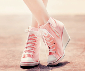 converse, wedges, and white image