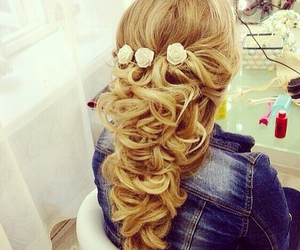 chic, hair salon, and hairstyle image
