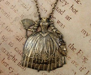 necklace, dress, and vintage image