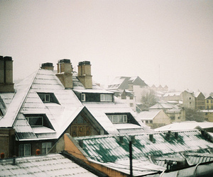 snow, winter, and vintage image