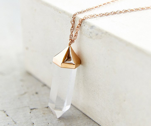 gold, necklace, and crystal image