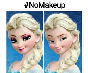 elsa, frozen, and makeup image