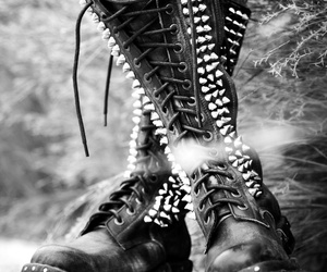 boots, goth, and dark image