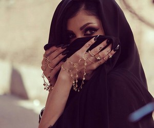 hijab, beauty, and nails image