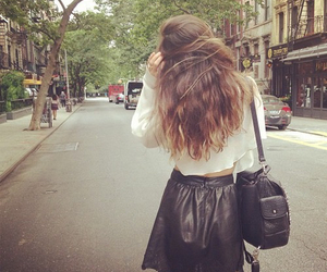 fashion, hair, and skirt image