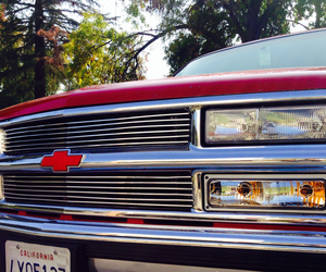 chevy, pickup, and red image