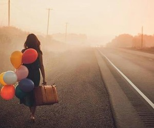 balloons, travel, and road image