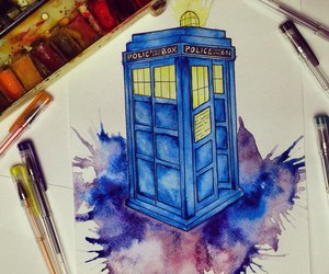 art, doctor who, and draw image