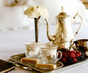 morning, breakfast in bed, and cottage charm image
