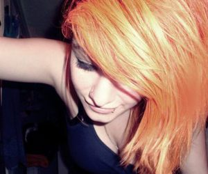 girl and orange hair image
