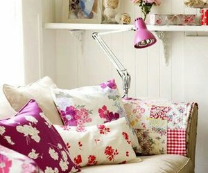 floral, interiors, and cottage charm image