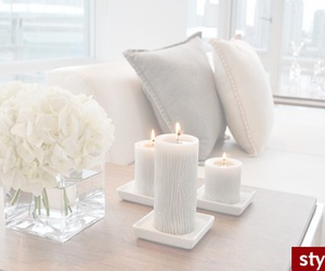 candles, white, and cozy image