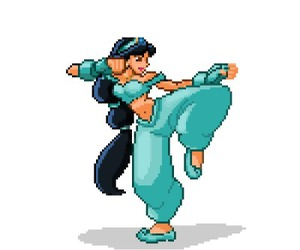 disney, jasmine, and pixel image