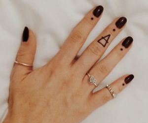 black, rings, and tattoo image