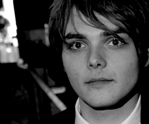 beautiful, gerard way, and black and white image