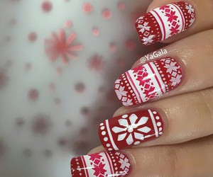 art, red, and nails image