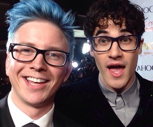 darren criss, youtuber, and tyler oakley image