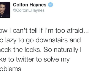 idol, twitter, and colton haynes image