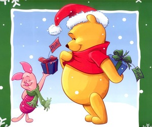 christmas, piglet, and love image