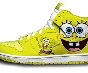 shoes, spongebob, and yellow image
