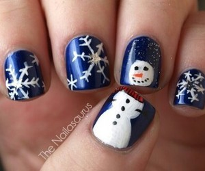 nails, snowman, and winter image
