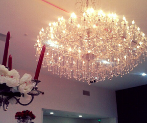 chandelier, fashion, and glam image