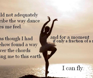 dance, fly, and quote image