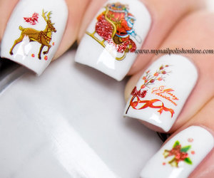 christmas, nails, and nailart image