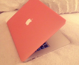 macbook, pink, and cute image