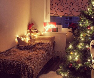 bedroom, decoration, and christmas image