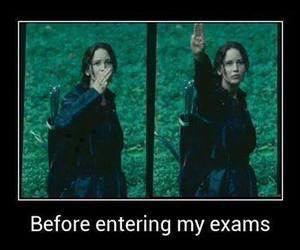 before, exam, and the hunger games image