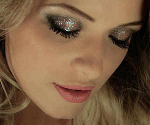 girl, glitter, and make up image