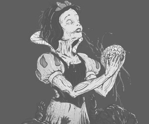 snow white, zombie, and disney image