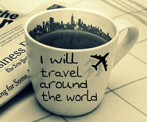 airplane, coffee, and cup image