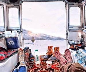 snow, winter, and travel image