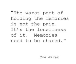 quote, the giver, and memories image