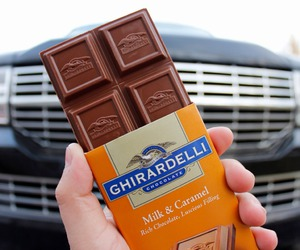 car, ghirardelli, and chocolate image
